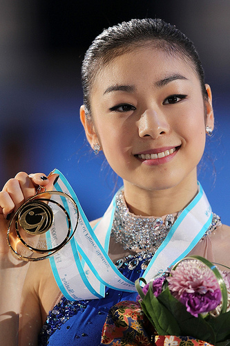Kim Yuna became the ladies' singles champion in figure skating